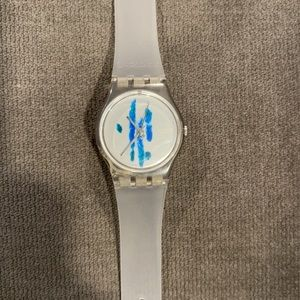 Swatch Watch with water color design